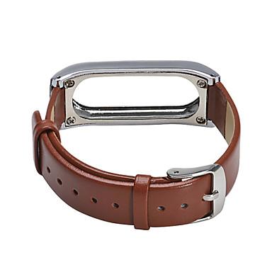 dla bransoletki prosa 2 prawdziwą wymianę opaski skórzane i metalowe ramki Xiaomi miband 2 pasek na nadgarstek