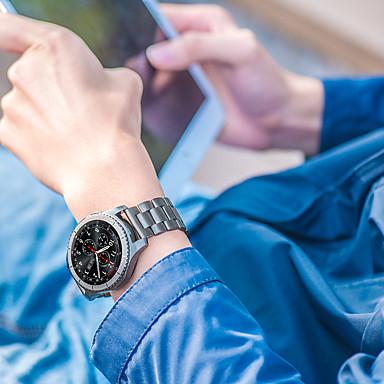 Watch Band na Gear S3 Frontier Gear S3 Classic Samsung Galaxy Pasek sportowy Stal nierdzewna Opaska na nadgarstek