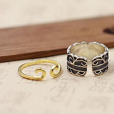 Δαχτυλίδι Κοσμήματα Προσαρμόσιμη Ανοικτό Ασήμι Στερλίνας Μαύρο Ασημί Κοσμήματα Για Καθημερινά Causal 1pc