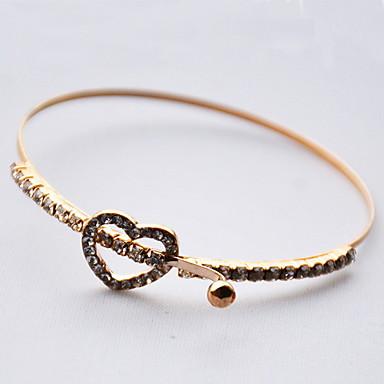 Damskie Bransoletki i łańcuszki na rękę Łańcuch Modny Złoty Serce Biżuteria Na