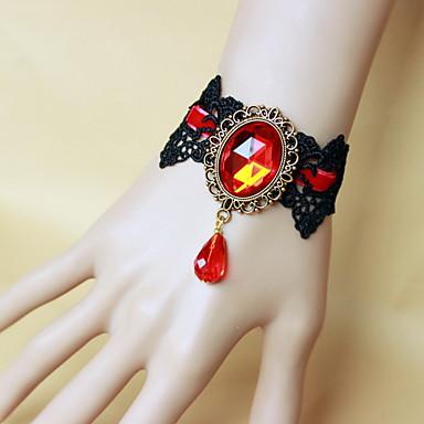 Γυναικεία Δαχτυλίδια με Βραχιόλι Βίντατζ Γκόθικ Δαντέλα Κρεμαστό Κοσμήματα Halloween