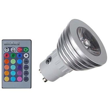 KWB 4 W Spoturi LED 400 lm E14 GU10 GU5.3(MR16) MR16 1 LED-uri de margele COB Intensitate Luminoasă Reglabilă Telecomandă Decorativ RGB 85-265 V / 1 bc / RoHs / CE