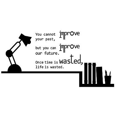 Rysunek Words & Quotes Moda Naklejki Naklejki ścienne lotnicze Dekoracyjne naklejki ścienne,Winyl MateriałNadający się do prania
