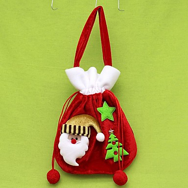 Opakowania na prezent Święto Tkanina Świąteczna dekoracja