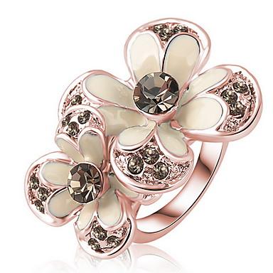 Damskie Pierscionek Kryształ Spersonalizowane Cyrkon Kryształ austriacki Stop Biżuteria Codzienny Casual