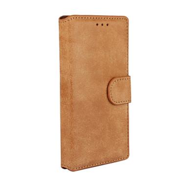 Capinha Para Huawei Huawei P7 Capinha Huawei Porta-Cartão Carteira Com Suporte Flip Capa Proteção Completa Côr Sólida Rígida PU Leather