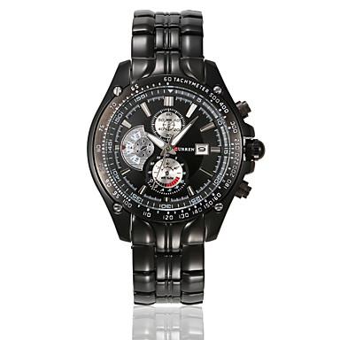 Bărbați Ceas Sport Ceas Elegant Ceas La Modă Quartz Calendar Rezistent la Apă Aliaj Bandă Casual MulticolorAlb Negru Argintiu