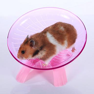 Kemirgenler Hamster Plastik Egzersiz Tekerlekleri Mavi Pembe