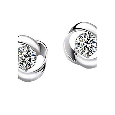 نساء أقراط الزر ترف فضة الاسترليني تقليد الماس اربع اوراق برسيم مجوهرات من أجل حزب فضفاض