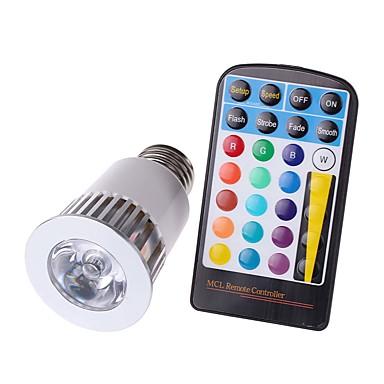 4W E26/E27 LED Σποτάκια MR16 1 COB 450 lm RGB κ Αδιάβροχη Με ροοστάτη Τηλεχειριζόμενο Διακοσμητικό AC 85-265 V