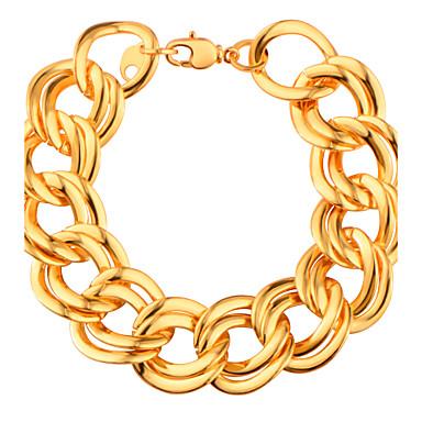 Męskie Damskie Bransoletki i łańcuszki na rękę Modny luksusowa biżuteria Pozłacane Biżuteria Biżuteria Na Ślub Impreza Urodziny