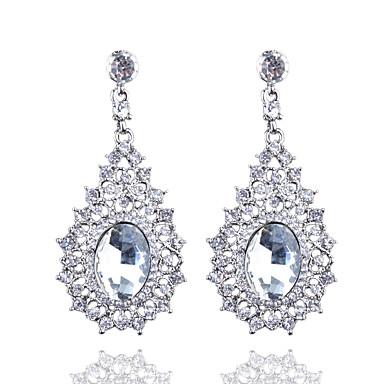 moda europejska butik pełne diamentowe kryształowe kolczyki elegancki styl