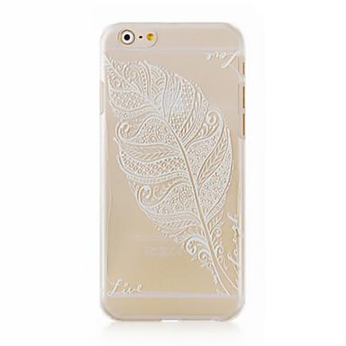 o padrão de folhas de caixa do telefone transparente de volta caso cobertura para mais iphone6 caso