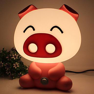 Całkiem ładny świnia kreskówka zwierząt doprowadziły Night Light Baby Room światło sypialni biurko lampka nocna lampa najlepiej śpi na