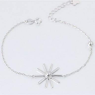 Naisten Ranneketjut Muoti Sterling-hopea Flower Shape Korut Käyttötarkoitus