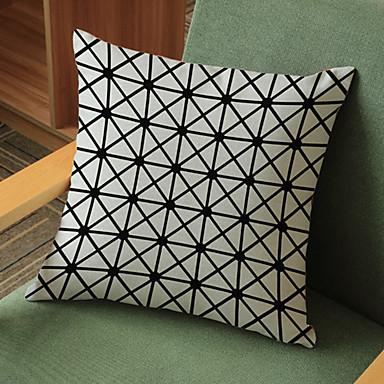 1 adet Linen Yastık Kılıfı,Geometrik Modern/Çağdaş