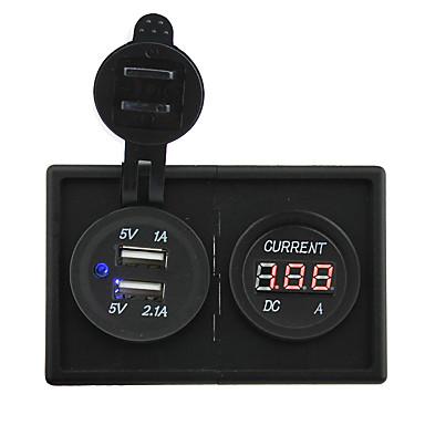 12v / 24v 3.1a podwójnym gniazdem USB i doprowadził miernik prądu z panelem uchwytu Obudowa dla ciężarówek łodzi samochodów kempingowych