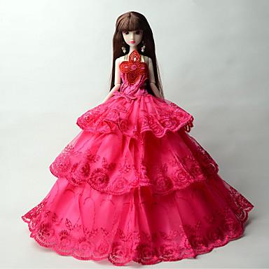 Prințesă Rochii Pentru Barbie Doll Dantelă organza Rochie Pentru Fata lui păpușă de jucărie