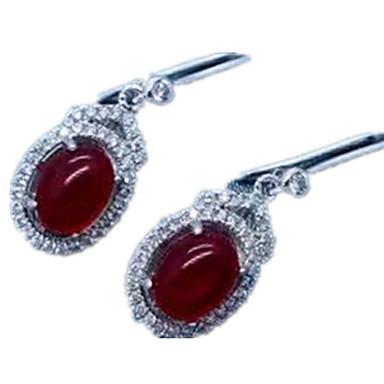 Damskie Kolczyki na sztyft luksusowa biżuteria Srebro standardowe Imitacja diamentu Circle Shape Geometric Shape Biżuteria Na Codzienny