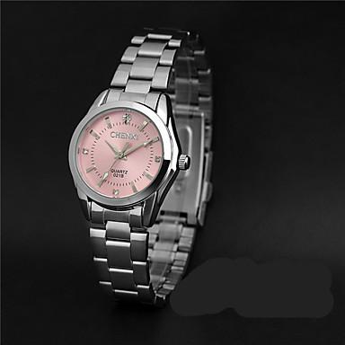 LONGBO Γυναικεία Ρολόι Καρπού απομίμηση διαμαντιών / / κράμα Μπάντα Καθημερινό / Μοντέρνα / Προσομοιωμένο ρολόι Diamond Ασημί