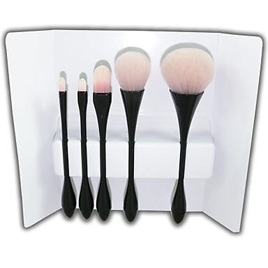 5 Seturi perie Perie Blush Perie  Fard Perie Buze Perie pentru sprâncene Perie Corector Perie Pudră Perie Fond Contour Brush Păr sintetic