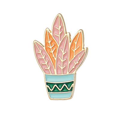 للمرأة دبابيس مينا سبيكة برتقالي أخضر أزرق مجوهرات فضفاض مجوهرات