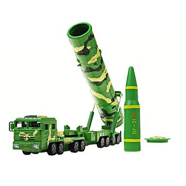 Vehicul Militar Vehicul cu rachete Toy Trucks & Vehicule de constructii Jucării pentru mașini 1:72 Retractabil Plastic ABS MetalPistol
