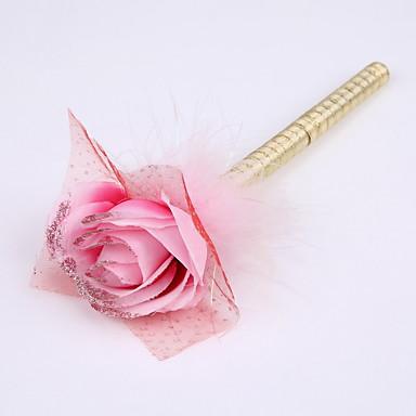 Yeni şerit saf el yapımı çiçek düğün imza kalem işaretleyici kalem (dolum altın)
