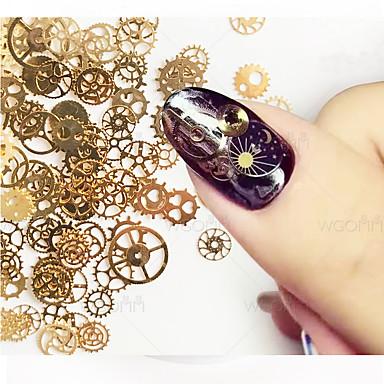 1set Κοσμήματα νυχιών Σετ διακόσμησης Μεταλλικός Μοντέρνα Υψηλή ποιότητα Καθημερινά