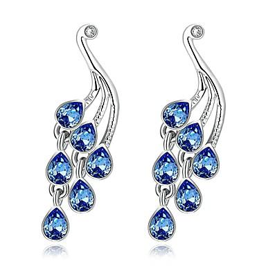 Damla Küpeler Opal Opal alaşım Açık Mavi Mücevher Için Günlük 1 çift