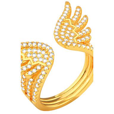 Męskie Damskie Duże pierścionki Pierscionek Biżuteria Cyrkon Cyrkonia Stop Skrzydła / Feather Biżuteria Codzienny Casual