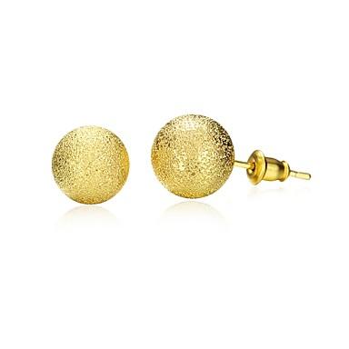 Γυναικεία Κουμπωτά Σκουλαρίκια - Επιχρυσωμένο Χρυσό Για Καθημερινά / Causal