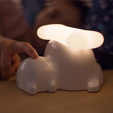 1pc δημιουργική κουτάβι κομοδίνο λάμπα USB δώρα φόρτισης μικρό φωτιστικό νύχτας dimming αφής φώτα (τυχαία χρώμα)