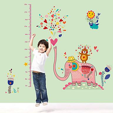 Animale Desene Animate Modă Perete Postituri Autocolante perete plane Autocolante de Perete Decorative Adezive de Măsurat Înălțimea,Hârtie