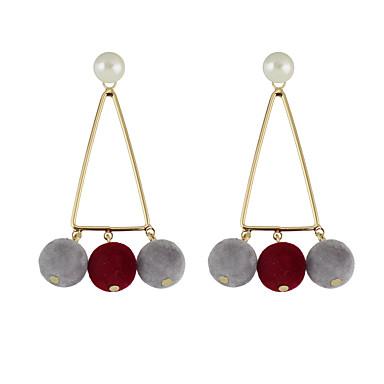 Κρεμαστά Σκουλαρίκια Κοσμήματα Γυναικεία Causal Κράμα 1 ζευγάρι Γκρι Μαύρο Λευκό Κόκκινο