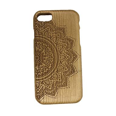 Na Wytłaczany wzór Kılıf Etui na tył Kılıf Kwiat Twarde Drewno na Apple iPhone 7