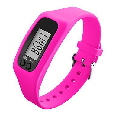 Χαμηλού Κόστους Ανδρικά ρολόγια-Ανδρικά Γυναικεία Αθλητικό Ρολόι Ρολόι Καρπού Ψηφιακό ρολόι Ψηφιακή καουτσούκ Μαύρο / Λευκή / Μπλε Βηματόμετρα LCD Απίθανο Ψηφιακό Κόκκινο Πράσινο Μπλε / Πολύχρωμα