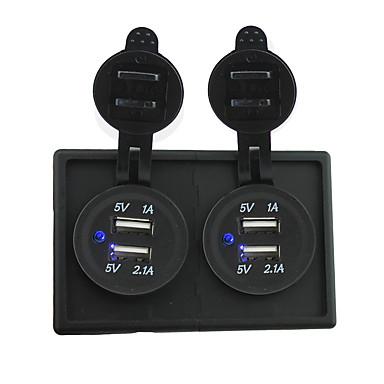 12V / 24V 2szt 3.1a gniazdko USB z panelu obudowy uchwytu samochodowego dla łodzi samochodów kempingowych
