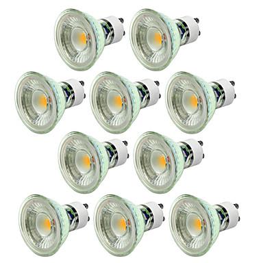 10szt ściemniania 5w 550-650lm gu10 led reflektor cob ciepły / zimny biały ac220-240v