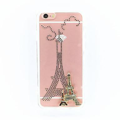 Varten Pölynkestävä Etui Takakuori Etui Eiffelin torni Kova PC varten Apple iPhone 6s/6