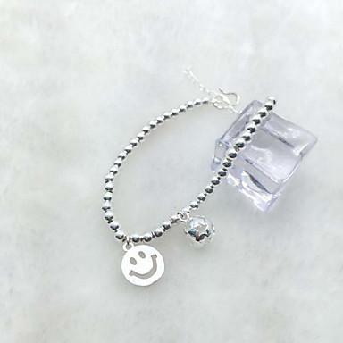 أساور السلسلة والوصلة حب الطبيعة موضة أسلوب بسيط فضة الاسترليني Heart Shape مجوهرات فضي مجوهرات إلى 1PC