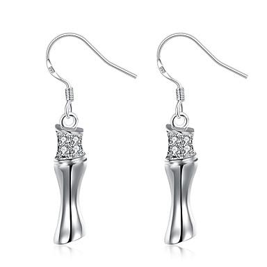 Γυναικεία Κρεμαστά Σκουλαρίκια Κοσμήματα κοσμήματα πολυτελείας Ασήμι Στερλίνας Προσομειωμένο διαμάντι Κοσμήματα Για Γάμου Πάρτι