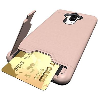 Pentru Titluar Card Anti Șoc Cu Stand Maska Carcasă Spate Maska Culoare solida Greu PC pentru Huawei Huawei Mate 9