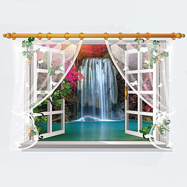 Maisema Muoti 3D Wall Tarrat Lentokone-seinätarrat 3D-seinätarrat Koriste-seinätarrat, Paperi Kodinsisustus Seinätarra Seinä