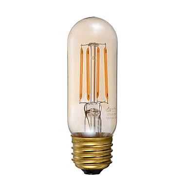 GMY® 1pc 3.5W 300lm E26 LED Filaman Ampuller T 4 LED Boncuklar COB Kısılabilir Dekorotif Amber 110-130V