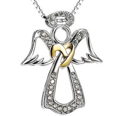 Γυναικεία Κρεμαστά Κολιέ Κοσμήματα Ενιαία Δέσμη Κοσμήματα Ασήμι Στερλίνας Επιχρυσωμένο Προσομειωμένο διαμάντιΒασικό Love Πεπαλαιωμένο