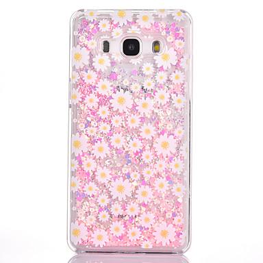 Για Ρέον υγρό Με σχέδια tok Πίσω Κάλυμμα tok Λουλούδι Σκληρή PC για Samsung Grand Prime