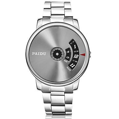 Erkek Moda Saat Quartz Alaşım Bant Gümüş Beyaz Gri