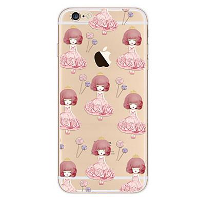 Uyumluluk iPhone 7 Kılıf iPhone 7 Plus Kılıf iPhone 6 Kılıf Kılıflar Kapaklar Ultra İnce Temalı Arka Kılıf Pouzdro Seksi Kadın Yumuşak TPU