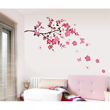 Romantic Modă Florale Perete Postituri Autocolante perete plane Autocolante de Perete Decorative,Hârtie Pagina de decorare de perete Decal